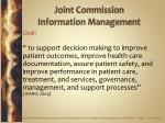 joint commission information management