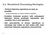 2 a heuristical processing strategies