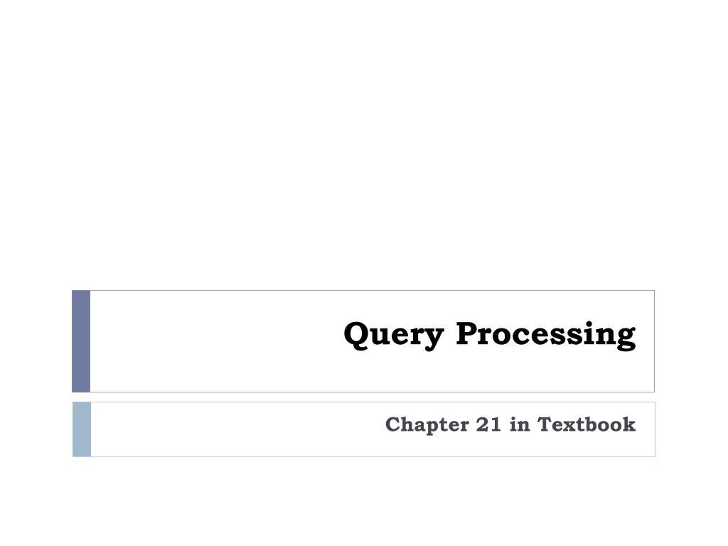query processing l.