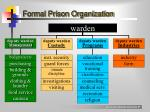 formal prison organization