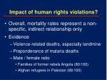 impact of human rights violations