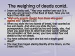 the weighing of deeds contd7