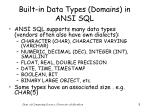 built in data types domains in ansi sql