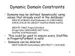 dynamic domain constraints