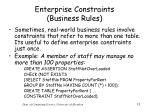 enterprise constraints business rules