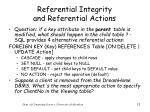 referential integrity and referential actions