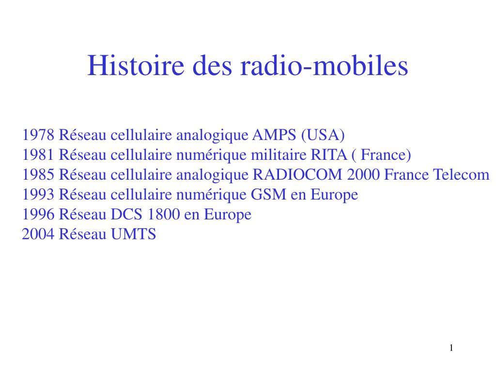 histoire des radio mobiles l.