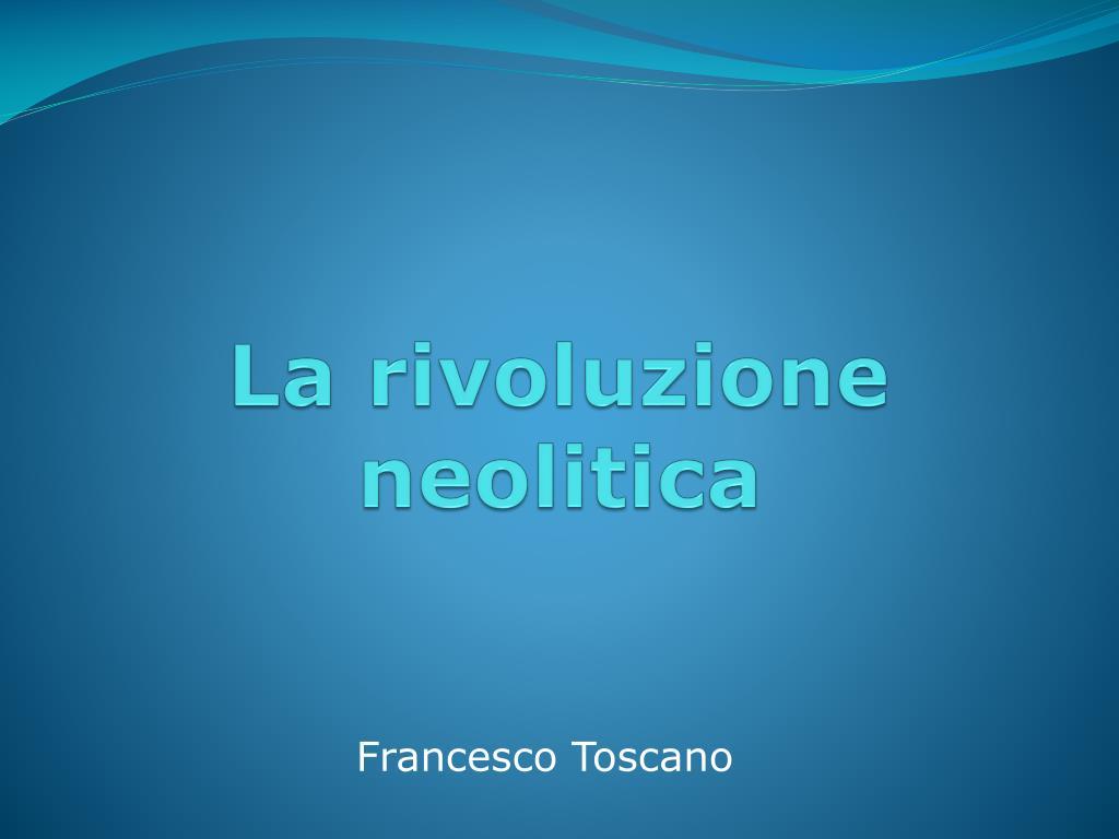 la rivoluzione neolitica l.