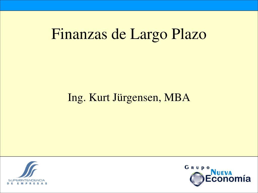 finanzas de largo plazo l.