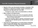 form 990 checklist of required schedules