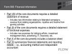 form 990 financial information