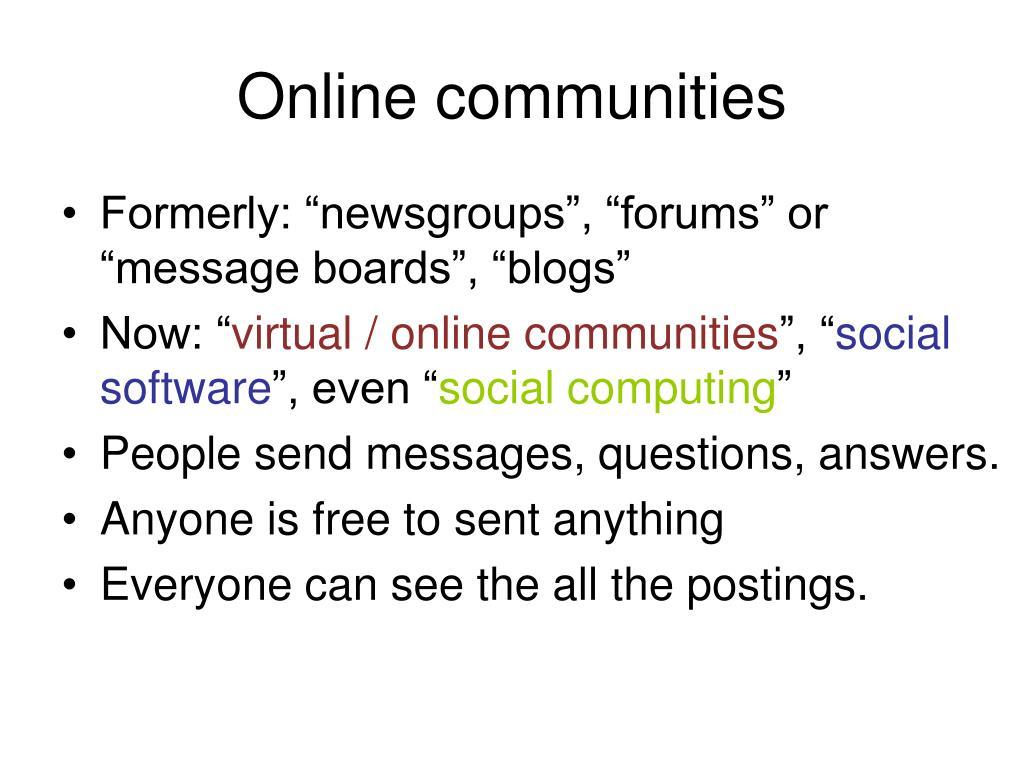 Online communities