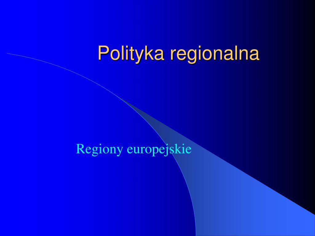 polityka regionalna l.