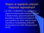 region w aspekcie unijnych statystyk regionalnych