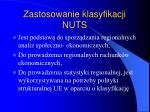 zastosowanie klasyfikacji nuts