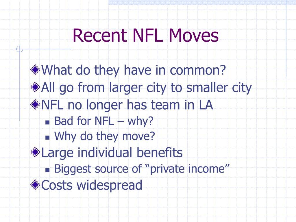 Recent NFL Moves