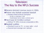 television the key to the nfl s success