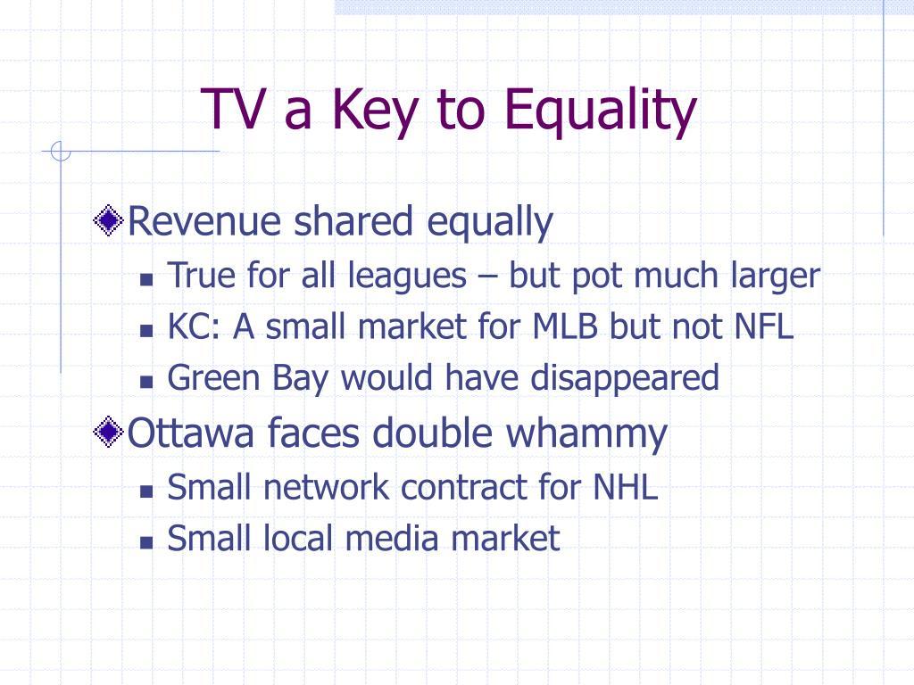 TV a Key to Equality