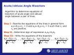 acute obtuse angle bisectors