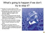 what s going to happen if we don t try to stop it