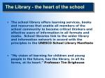 the library the heart of the school
