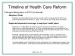 timeline of health care reform7