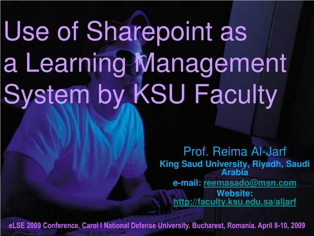 use of sharepoint as a learning management system by ksu faculty l.
