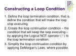 constructing a loop condition