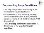 constructing loop conditions