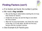 finding factors con t81