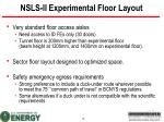 nsls ii experimental floor layout