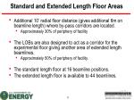 standard and extended length floor areas