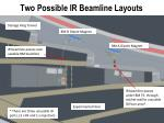 two possible ir beamline layouts