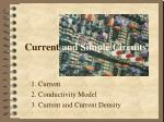 current and simple circuits