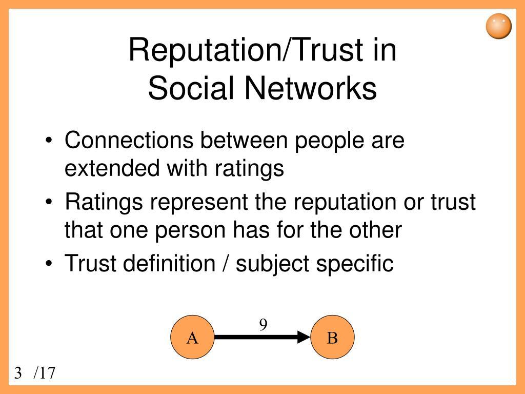 Reputation/Trust in