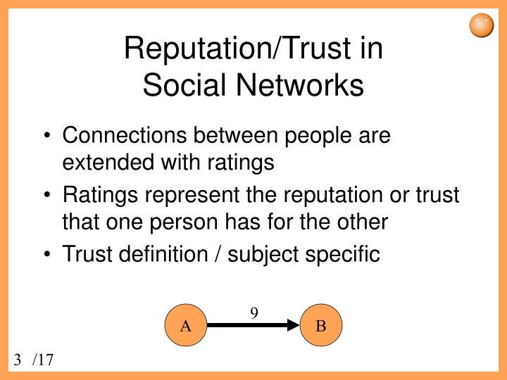 Reputation trust in social networks