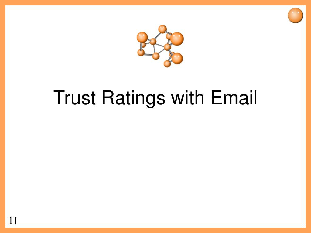 Trust Ratings with Email