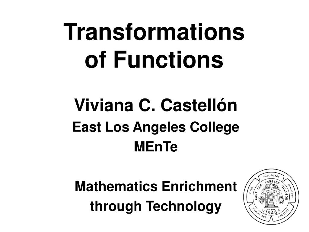 transformations of functions l.