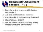 complexity adjustment factors