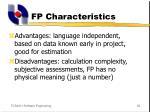 fp characteristics