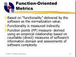 function oriented metrics
