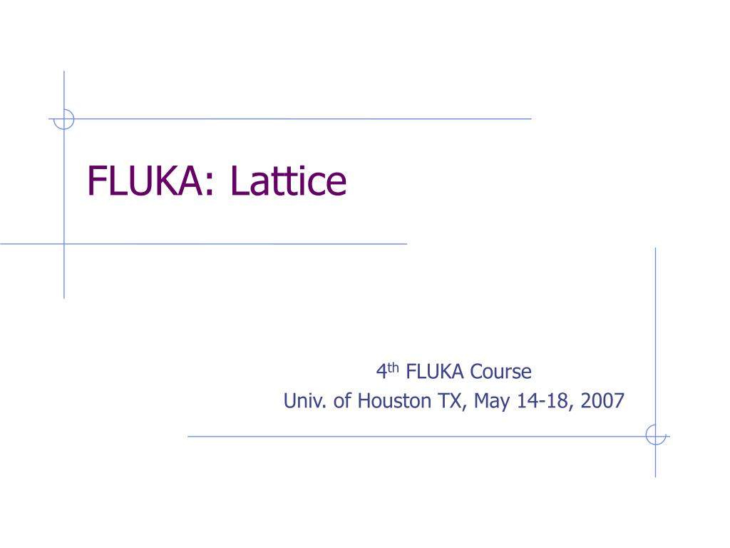 fluka lattice l.