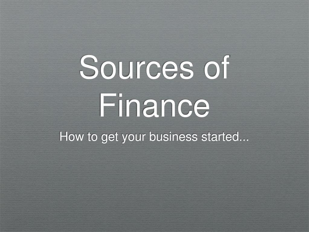 sources of finance l.