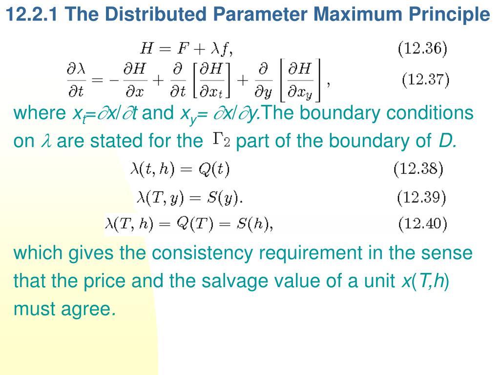 12.2.1 The Distributed Parameter Maximum Principle