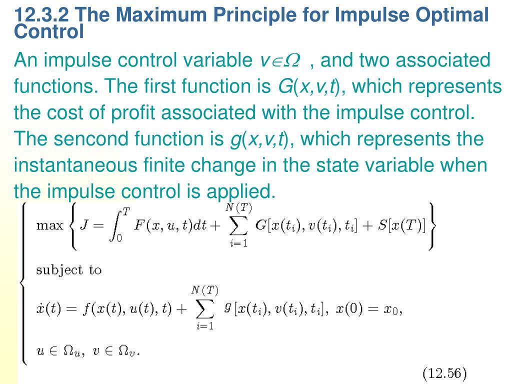 12.3.2 The Maximum Principle for Impulse Optimal Control