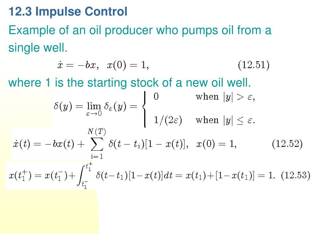 12.3 Impulse Control
