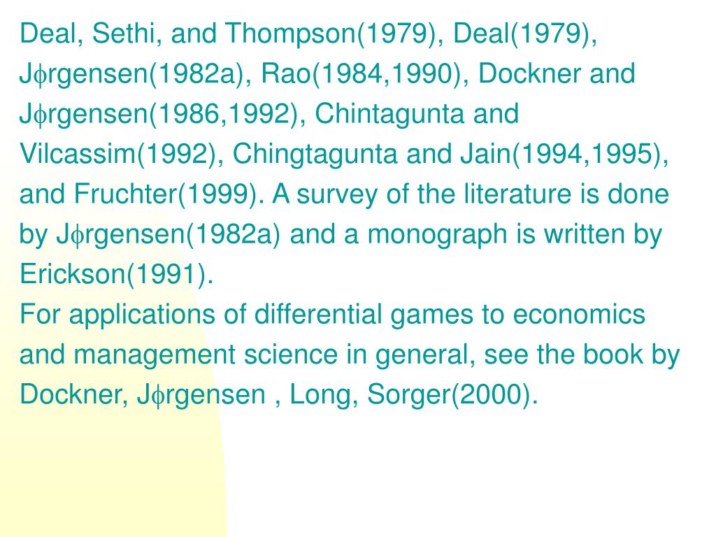 Deal, Sethi, and Thompson(1979), Deal(1979),