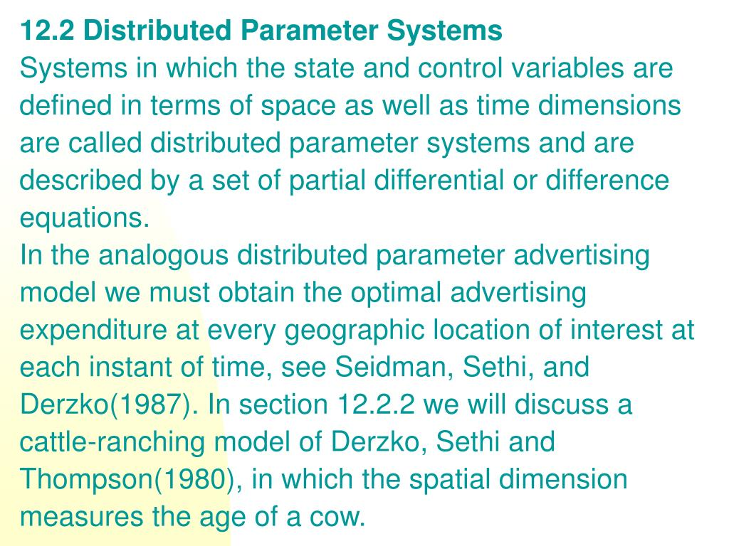 12.2 Distributed Parameter Systems