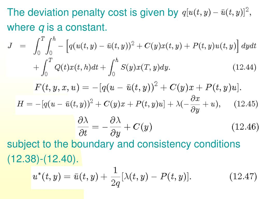 The deviation penalty cost is given by