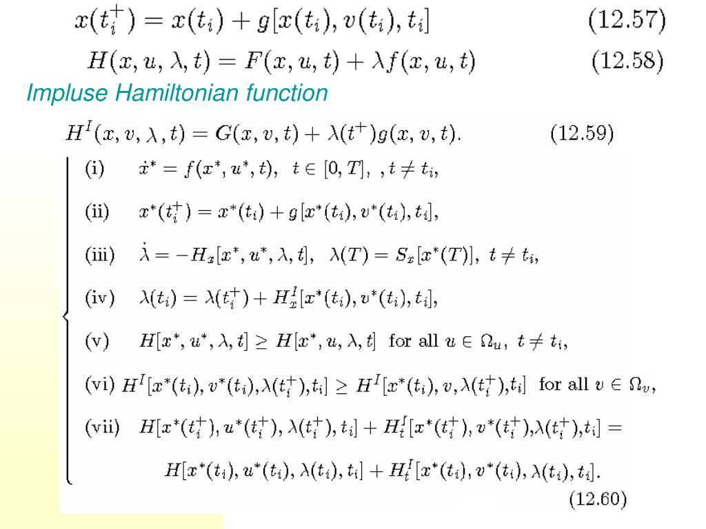 Impluse Hamiltonian function